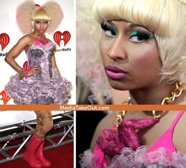 Nicki Minaj Wore a Fried Chicken Necklace