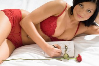 woman-writing-sexy-love-note