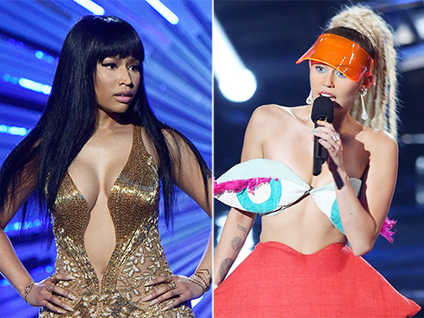 Nicki Minaj and Miley Came Face to Face at VMAs